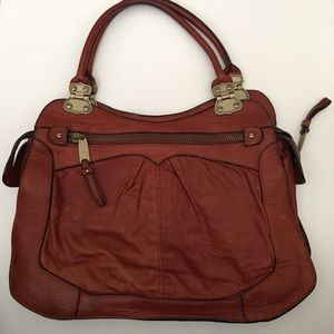 Cynthia Rowley Brown Distressed Leather Handbag